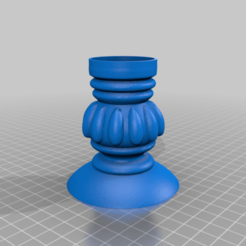 pillar_tea_candle_holder.png Download free STL file Tealight Candle Holder • 3D printer template, samlyn696