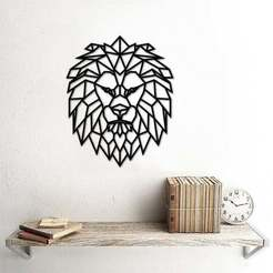 lion.jpg Download 3MF file Geometric Lion Wall Art • 3D print model, samlyn696