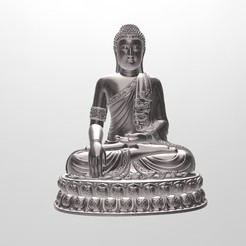 1.jpg Download free OBJ file Thai Buddha Edited - Error Free - Statue Sculpture • 3D printer object, samlyn696