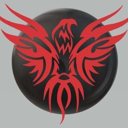 Download free STL file devil Eyes Eagle Harley davidson logo sticker • 3D printing design, samlyn696