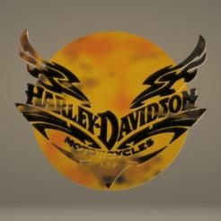 Descargar diseños 3D gratis Pegatina con el logo de Harley Davidson, samlyn696