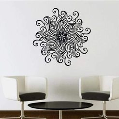 Download STL file Flower Wall Stickers Decor • 3D printing template, samlyn696