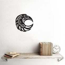 eagle.jpg Télécharger fichier 3MF Décor mural de la tête d'aigle • Modèle imprimable en 3D, samlyn696