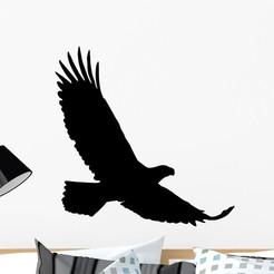 egl.jpeg Download 3MF file Eagle Wall decor Wall Sticker • 3D printer object, samlyn696
