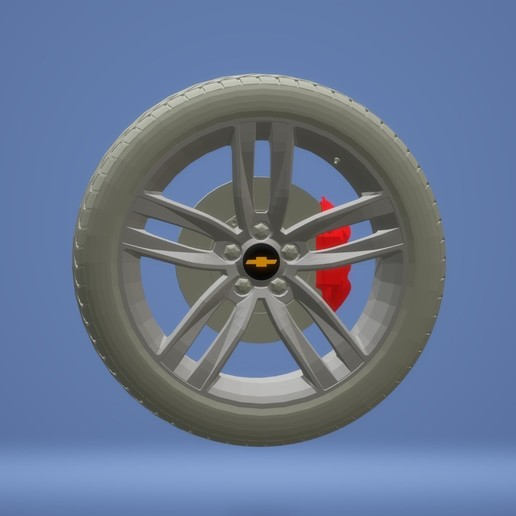 Untitled.jpg Download free STL file Chevrolet Camaro 2020 car model ( tyre) • 3D print object, samlyn696