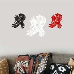 h bird 1.jpg Download 3MF file Happy Bird Kingfisher Bird Totem Native American Wall Art • 3D print design, samlyn696