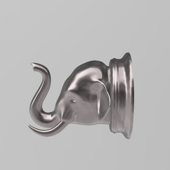 1.jpg Download STL file Realistic Elephant Head - Wall Decoration Hanger • 3D printer model, samlyn696
