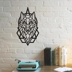 wolf.jpg Télécharger fichier 3MF Art mural de la tête de loup • Modèle pour imprimante 3D, samlyn696