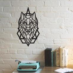 wolf.jpg Download 3MF file Wolf Head Wall Art • Design to 3D print, samlyn696