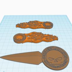Harley Davidson.png Download free OBJ file Harley D Logo with Envelop letter Opener 3 in 1 Stl • 3D print template, samlyn696