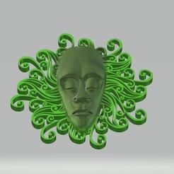 Descargar diseños 3D Máscara tribal Decoración de la pared Máscara de la Medosa, samlyn696