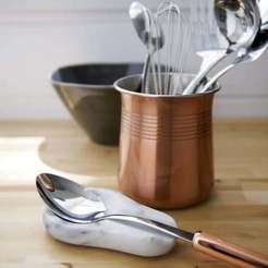 Descargar diseños 3D gratis Cuchara de cocina en forma de corazón Soporte de tenedor Té Café, samlyn696