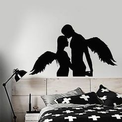 Download 3D printing templates Couple Hugging Wall sticker Angels, samlyn696