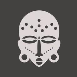 aw.jpg Télécharger fichier STL Masque africain Décoration murale Low Poly • Design pour impression 3D, samlyn696