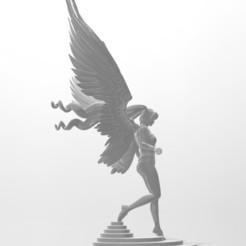 descending angell6pg.jpg Download STL file Descending Angel with Base Sculpture Anime Angel Statue • 3D print model, samlyn696