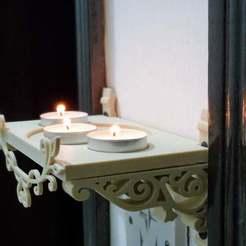 Descargar archivos STL gratis Hermoso estante de vaporizador de aromas para velas móviles con un impresionante soporte de arte, samlyn696