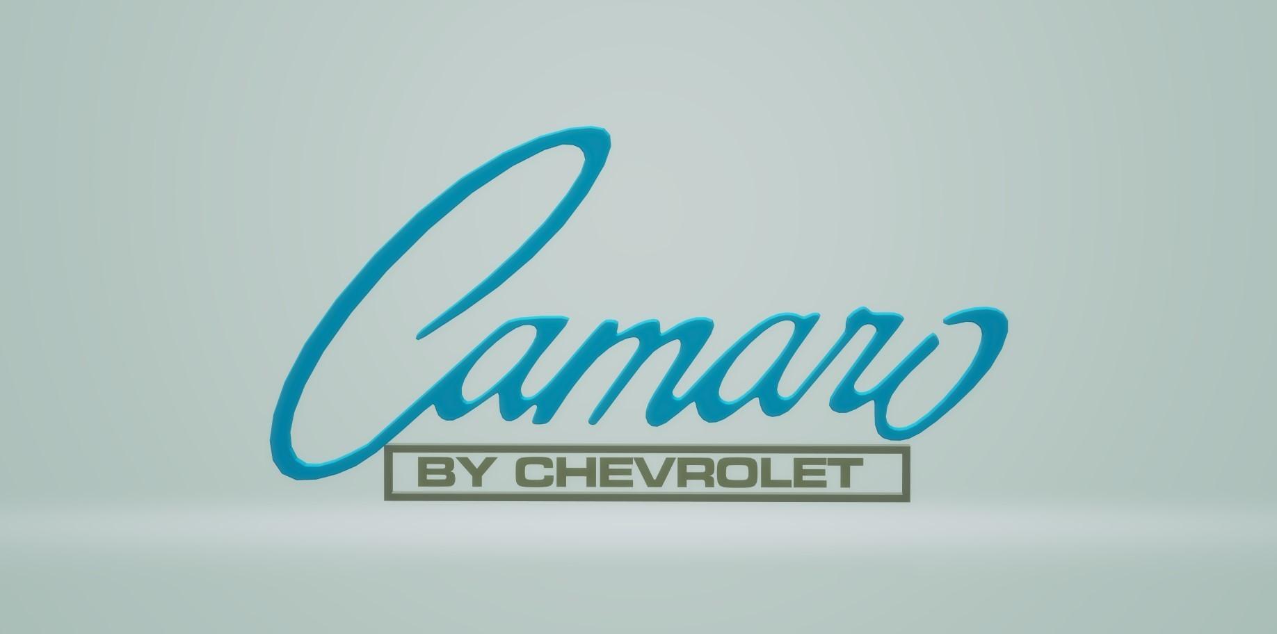 Untitled.jpg Download free STL file Camaro Logo 1967 Chevrolet • 3D printing design, samlyn696