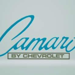 Download free 3D printer designs Camaro Logo 1967 Chevrolet, samlyn696