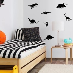 Untitled.jpg Download STL file 11 Decorative Dinosaurs Wall Art Collection • 3D printer template, samlyn696