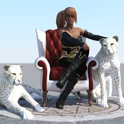 t m4.jpg Download STL file Tiger Master Diorama - Cheetah Master  • 3D print object, samlyn696