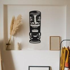 t mask 2.jpg Télécharger fichier STL Décoration murale unique du Masque Tribal • Objet à imprimer en 3D, samlyn696