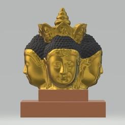 Descargar archivo 3D Cabeza de Buda única Arte de estilo tailandés con base, samlyn696
