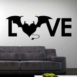 Download STL Wall Art Love Naughty, samlyn696