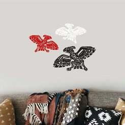 tb3.jpg Download 3MF file Tribal Art Thunder Bird Totem Native American Wall Art • 3D printable model, samlyn696