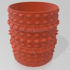 Jarron Grumoso.jpg Download OBJ file Vase - Lumped Spine Vase - Straight • Model to 3D print, GiasonoD