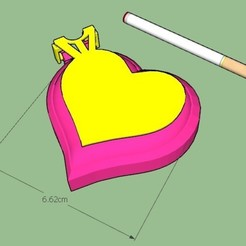 Imprimir en 3D mini Cenicero Corazon - Ashtray Heart minimum, GiasonoD