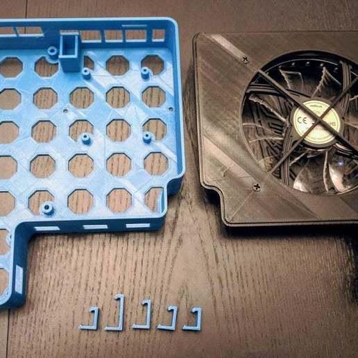 Télécharger modèle 3D gratuit Enceinte Anet A8 pour MKS Gen 1.4, MOSFET, Raspberry Pi, KerseyFabrications