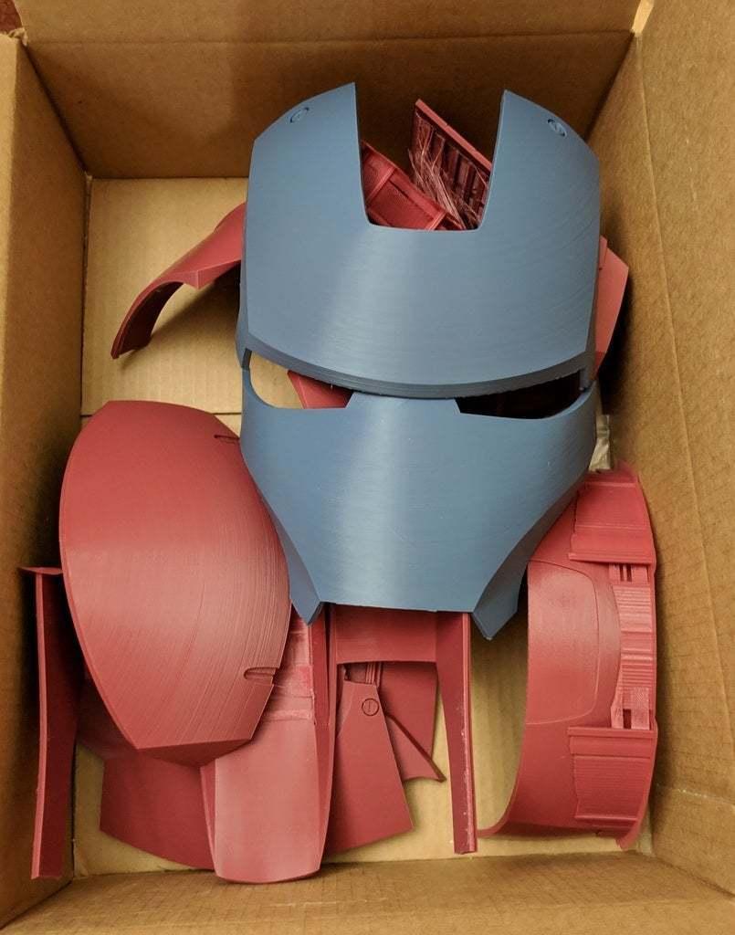 IMG_20190324_145725_1.jpg Download free STL file Iron Man Mark III Helmet Separated and Oriented • 3D printer template, KerseyFabrications