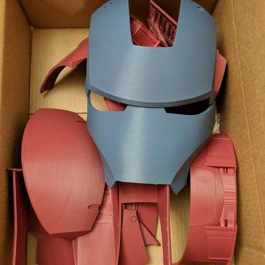 Download free STL file Iron Man Mark III Helmet Separated and Oriented, KerseyFabrications