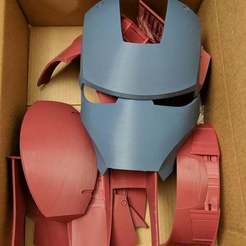 Descargar diseños 3D gratis Casco de Iron Man Mark III Separado y Orientado, KerseyFabrications