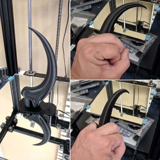 RaptorClaw00.jpg Télécharger fichier STL gratuit La griffe de rapace d'Alan Grant (entière) • Plan à imprimer en 3D, KerseyFabrications