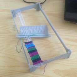 IMG_1622.JPG Download free SCAD file Simple weaving loom • Template to 3D print, Sharkus