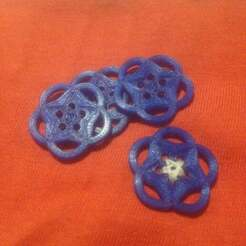 IMG_1258.JPG Download free SCAD file Buttons with a star pattern • 3D printable design, Sharkus