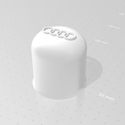 BOUCHON D ATTELAGE AUDI.png Download STL file AUDIBLE COUPLING PLUG • 3D printing design, Qtdu12