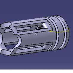CACHE FLAMME M4 V2 CATIA.png Télécharger fichier STL CACHE FLAMME M4 V2 • Objet à imprimer en 3D, Qtdu12