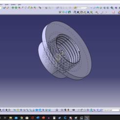 bouchon de reservoir sortie d eau catiav5.png Download STL file rainwater filter for karcher, garden hose • 3D printing model, Qtdu12