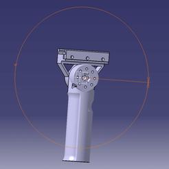 AIRSOFT POIGNEE AMOVIBLE COURTE CATIA 0°.png Télécharger fichier STL Poignée amovible courte airsoft, paintball, arme • Plan à imprimer en 3D, Qtdu12