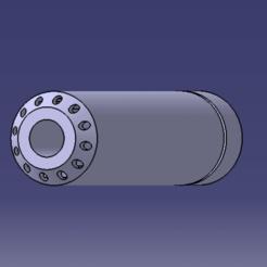 SILENCIEUX M4 V2 CATIA 2.png Download STL file Airsoft V2 silencer • 3D printer model, Qtdu12