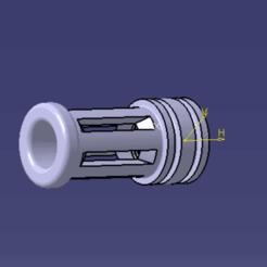 CACHE FLAMME M4 V1 CATIA.png Télécharger fichier STL CACHE FLAMME M4 V1 • Objet imprimable en 3D, Qtdu12