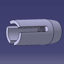 CACHE FLAMME M4 V3 CATIA.png Télécharger fichier STL CACHE FLAMME M4 V3 • Modèle pour impression 3D, Qtdu12