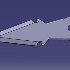 COUTEAU LANCER V1 CATPart.png Télécharger fichier GCODE COUTEAU LANCER V1 • Modèle imprimable en 3D, Qtdu12