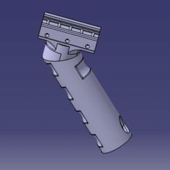 poignee a 45 catia.png Télécharger fichier STL POIGNÉE A 45° AIRSOFT, PAINTBALL, ARME • Design imprimable en 3D, Qtdu12