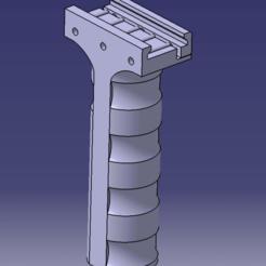 poignee a 90 catia.png Télécharger fichier STL POIGNÉE A 90° AIRSOFT, PAINTBALL, ARME • Design imprimable en 3D, Qtdu12