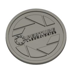 Coaster.PNG Download STL file Coaster - Aperture Laboratories • 3D printing object, justinsparks530