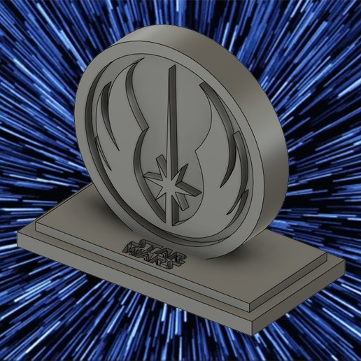 Download 3D printing templates JEDI LOGO WITH BASE, zRumaGG