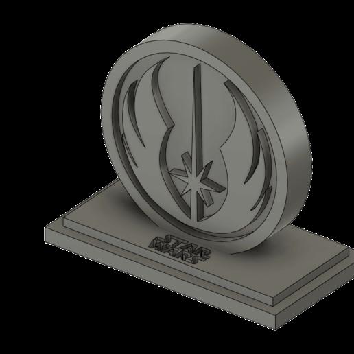Télécharger fichier impression 3D LOGO JEDI AVEC BASE, zRumaGG